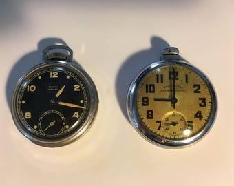 Vintage Westclox Pocket Ben and Aristocrat Railroad Special Pocket Watches