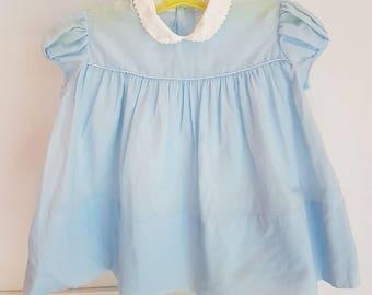 Cotton slightly sheer vintage baby dress. Midcentury beauty
