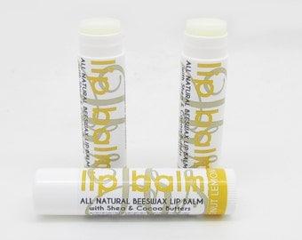 Natural Coconut Lemongrass Lip Butter Balm -Handmade Lip Balm with Shea Butter, Cocoa Butter, and Aloe | Lip Butter | Natural Lip Balm