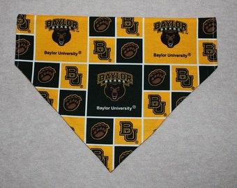 Baylor Bears Dog Bandanna in Small, Medium, or Large