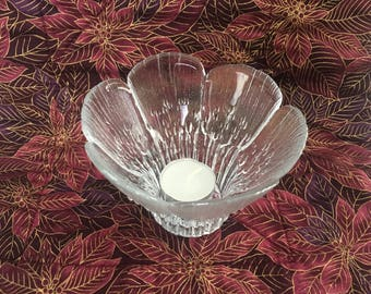 Lasisepat Mantsalan Finland Glass Floriform Votive Candle Holder, Clear Glass Candle  Holder, Finnish Glass, Finland, Scandinavian Art Glass