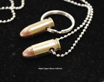 REAL Bullet Necklaces, Key Rings and Gift Sets - '32 Cal. thru 357 Mag' - All Handmade - Free Shipping