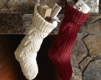 christmas stocking knit – Etsy