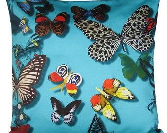 Designers Guild Christian Lacroix Butterfly Parade Lagon Blue Cushion Cover