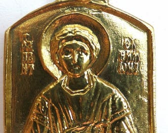 Orthodox Old Believers metal icon of Saint Panteleimon medal