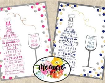 Wine Shower Invitation