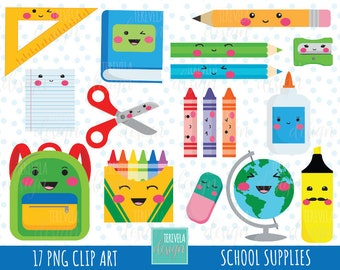 SCHOOL clipart, teachers graphics, commercial use, back to school clipart, college clip art, kawaii clipart, cute graphics, pencil