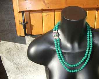 Emerald with Ruby zoiziste cabochon necklaces.