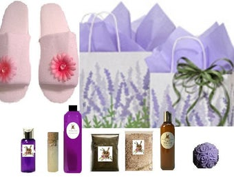 Organic / Natural New Mom POSTPARTUM RELAXATION KIT Lavender and Chamomile Gift Set Bag Basket Choose Scent!
