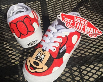 Minnie Mouse Red Bow Polka Dot Vans Shoes Toddler