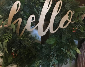 Wood 'hello' Sign for Home.