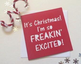 Christmas Card Funny Etsy