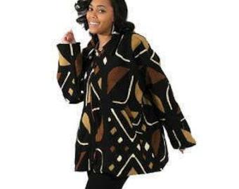 African Mud Cloth Jacket