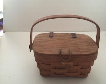 Small Longaberger picnic basket