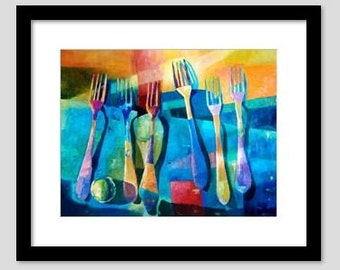 Art Work For Kitchen Funny Kitchen Art  Etsy