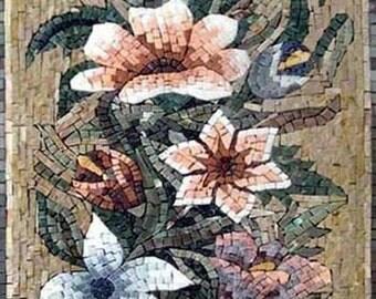 The Lilies Blossom Mosaic Artwork