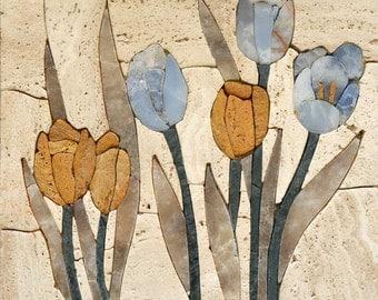 Mosaic Tiles Floral Patterns