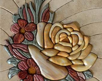 3D Floral - Mosaic Wall Art