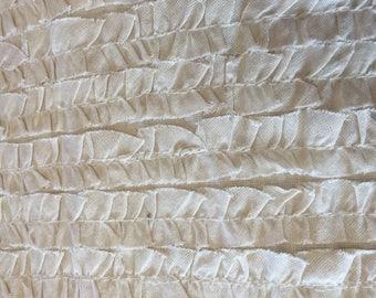 Poetry Ruffles in Porcelain by Moda Fabrics