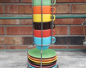 Colored Espresso Cups and Sausers