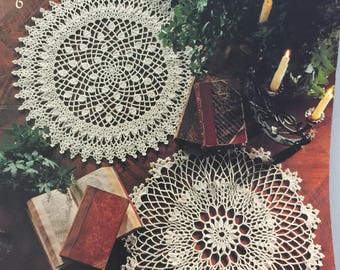 Doily Medley by Leisure Arts Leaflet 2556 - 9 Doilies To Crochet by Delsie Rhoades - Crochet Doily Patterns - Table Doily