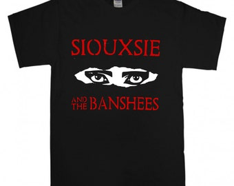 Siouxsie And The Banshees T-shirt New Black t shirt S M L XL XXL  Post Punk Rock Band New Wave