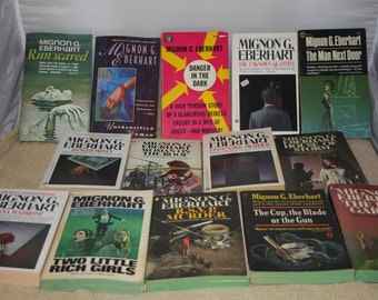 14 Mignon Eberhart books / Free shipping