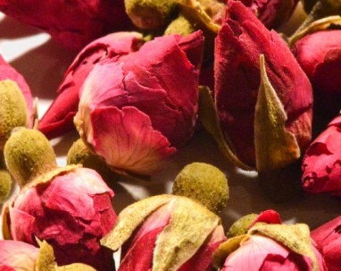 Red Rose Buds, Whole, Culinary - Certified Organic