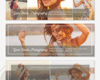 Facebook Timeline Cover Template Set - Facebook Timeline Cover, Facebook Marketing, Photoshop Template for Photographers