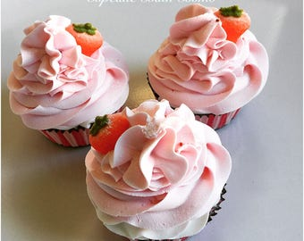 Sweet Strawberry Bubble Cupcake Bombs