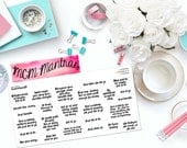 "MCM MANTRAS: ""Just let it go..."" Paper Planner Stickers!"