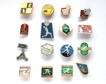 Sports, Badge, Kinds of sport, Summer, Winter, Pick from Set, Pin, Soviet Vintage metal collectible pins, Soviet Union, Made in USSR