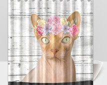Unique Cat Shower Curtain Related Items Etsy
