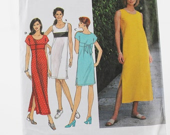 Easy Summer Dress Pattern, Uncut Sewing Pattern, Simplicity 8204, Size 10-14