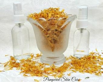 Calendula Hydrosol, Organic, Calendula officinalis, Crystal Clear, Pure & Natural, anti-inflammatory, anti-septic, and astringent properties