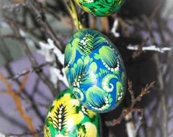 hand painted wooden easter eggs easter gifts art collectible holiday decoration eco friendly handmade eco easter decor cute rustic charm