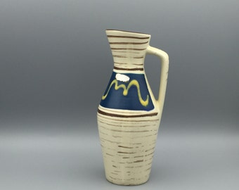 Scheurich  274 / 21, Heinz Siery design,  vintage handled vase Mid Century Modernist West German Pottery  made in the 1960s