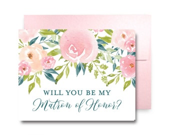 Will You Be My Bridesmaid Card, Bridesmaid Cards, Ask Bridesmaid, Bridesmaid Maid of Honor Gift, Matron of Honor, Flower Girl #CL281
