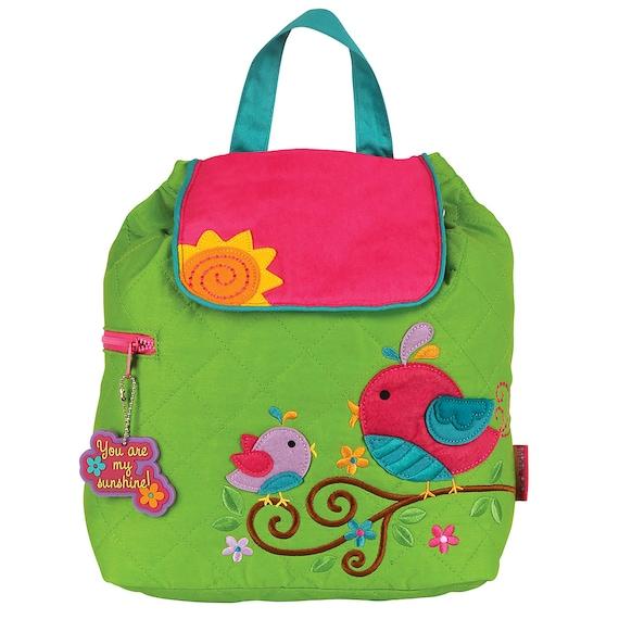 Toddler Stephen Joseph Bird Backpack, Personalized Diaper Bag, Monogrammed Children's Backpack Personalized Bird Backpack. FREE MONOGRAM
