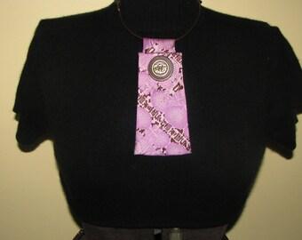 NEW - Necktie Necklace - Vintage Necktie - Ladies Necktie