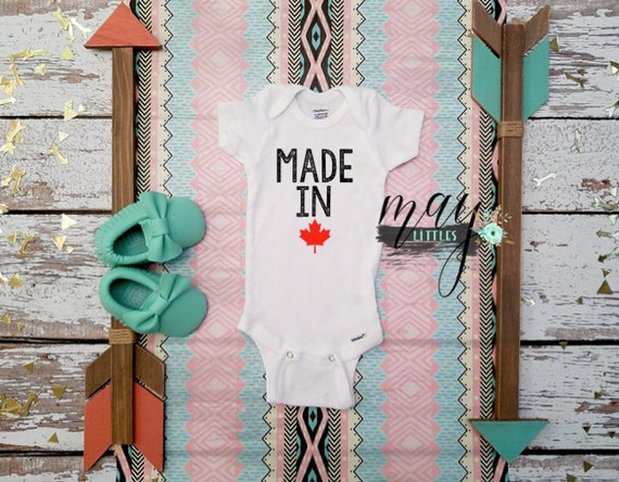made in canada baby onesie canadian baby clothes i