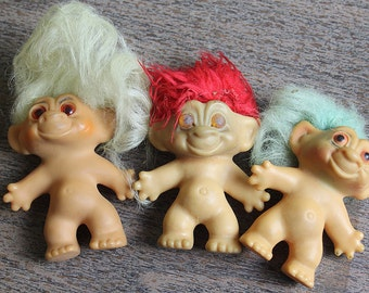 Three trolls from the 60s