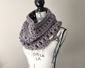 Chunky cowl, Crochet chunky cowl, Infinity scarf, Ready to ship, Women's Cowl, Teen cowl, Circle Scarf Women's
