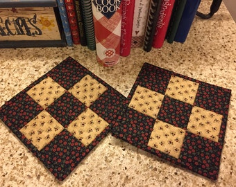Kitchen Potholders / Quilted Potholders / Country Decor / Handmade / Item # 1885