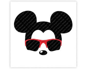 Disney, Mickey Mouse, Sunglasses, Oakleys,Icon Minnie Mouse Head, Mouse Ears, Digital, Download, TShirt, Cut File, SVG, Iron on, Transfer