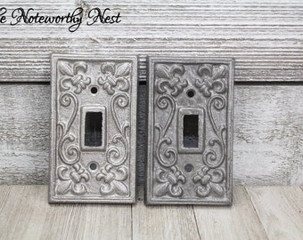 Silver Light Switch Cover // Single // Silver Switchplate // Silver Light cover // silver outlet cover // silver switch plate