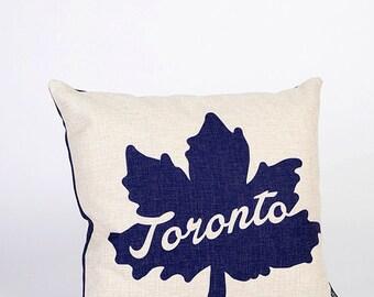 Toronto Leaf Icon Pillow