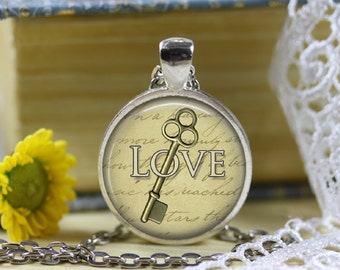 Love Is The Key Pendant Necklace