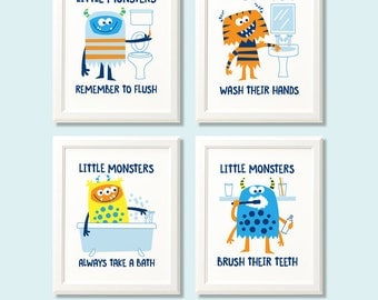 bathroom rules for kids bathroom etsy 16379