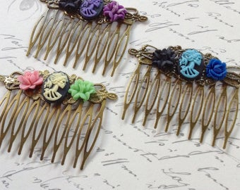 Combs Colorful Crazy Skull Combs
